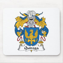 Quiroga Family Crest Mousepad