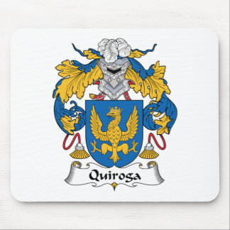 Quiroga Family Crest Mouse Pad
