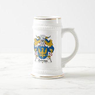 Quiroga Family Crest 18 Oz Beer Stein
