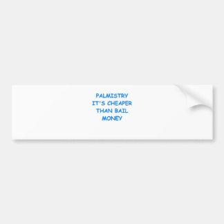 quiromancía etiqueta de parachoque