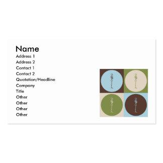 Quiropráctica del arte pop tarjetas de visita
