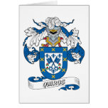 Quiros Family Crest Card