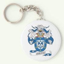 Quiros Family Crest Keychain