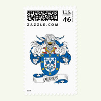 Quiros Family Crest Stamps