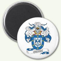 Quiros Family Crest Magnet