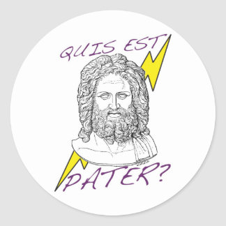 Quis est Pater? (Who's Your Daddy?) Classic Round Sticker