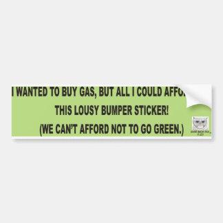 Quise comprar gas pegatina de parachoque