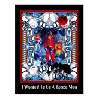 Quise ser un hombre del espacio tarjeta postal