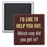 Quisiera ayudarle hacia fuera imán de nevera