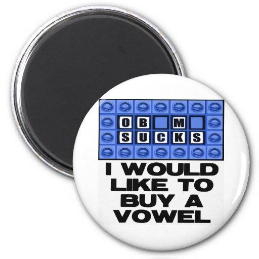 Quisiera comprar una vocal - Obama chupa Imanes