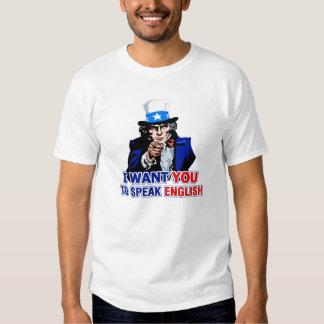 Quisiera que usted hablara inglés playeras