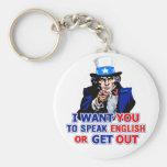 Quisiera que usted hable inglés o que saliera de l llavero personalizado
