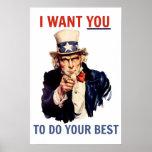 Quisiera que usted hiciera su mejor poster