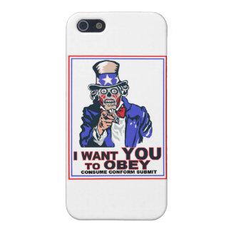 ¡Quisiera que usted OBEDECIERA! iPhone 5 Carcasas
