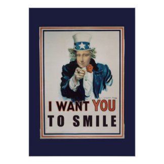 Quisiera que usted sonriera posters