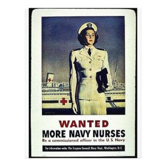 """Quiso a más enfermeras de la marina de guerra folleto 8.5"""" x 11"""""""