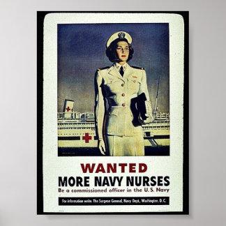 Quiso a más enfermeras de la marina de guerra póster