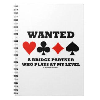 Quiso a un socio del puente que juega en mi nivel libros de apuntes con espiral