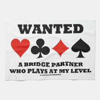 Quiso a un socio del puente que juega en mi nivel toalla de mano