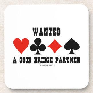 Quiso un buen puente de los juegos de la tarjeta posavasos de bebidas