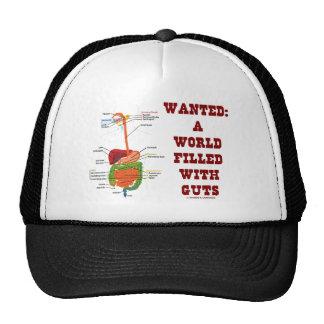 Quiso un mundo llenado de la tripa (el sistema dig gorra