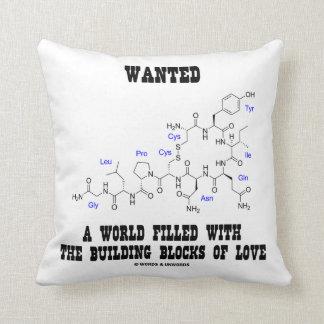 Quiso un mundo llenado de los bloques huecos del almohada