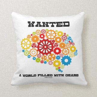 Quiso un mundo llenado de los engranajes (los cojines
