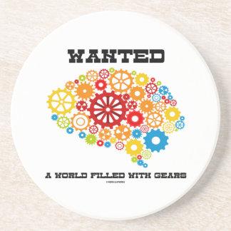 Quiso un mundo llenado de los engranajes (los posavasos manualidades