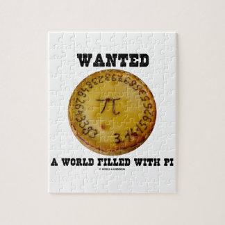 Quiso un mundo llenado de pi (el humor de la matem rompecabeza