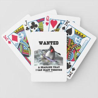 Quiso un plazo con el cual puedo costear barajas de cartas
