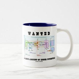 Quiso una gran cantidad de potencial interno taza de café de dos colores