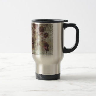 Quissical - mixed media travel mug