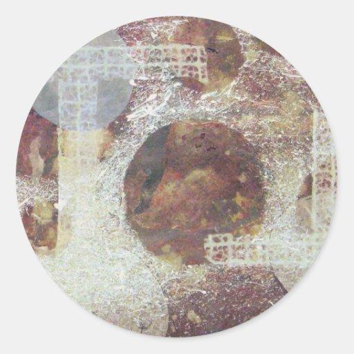 Quissical - técnicas mixtas pegatina redonda