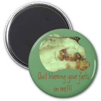 Quit blaming your farts on me refrigerator magnet