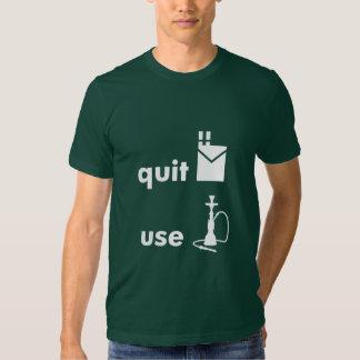 Quit Cigarettes Use Hookah Tee Shirt