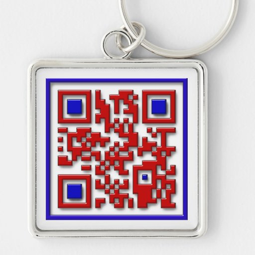 Quit following me! Silver-Colored square keychain
