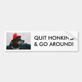 QUIT HONKING & GO AROUND! BUMPER STICKER
