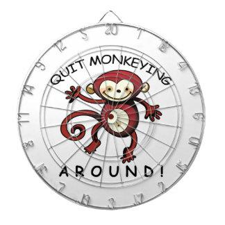 Quit Monkeying Around! Dartboard With Darts