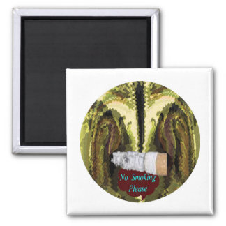 QUIT NOW -  Smoking is injurious to health 2 Inch Square Magnet