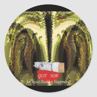 QUIT NOW -  Smoking is injurious to health v2 Classic Round Sticker