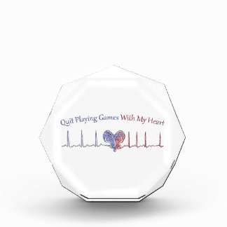 Quit Playing Games With My Heart Acrylic Award