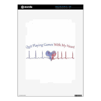 Quit Playing Games With My Heart Decal For iPad 2