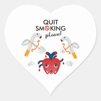 Quit que fuma por favor colcomanias de corazon personalizadas