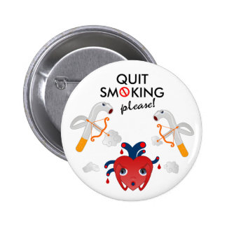 Quit que fuma por favor pin redondo 5 cm