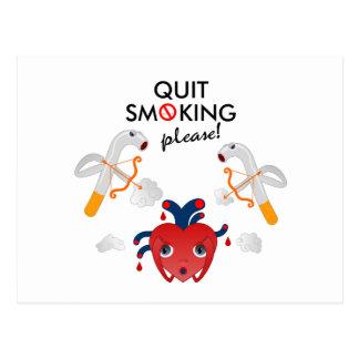 Quit que fuma por favor postales