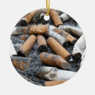 quit smoking! Ashtray Double-Sided Ceramic Round Christmas Ornament