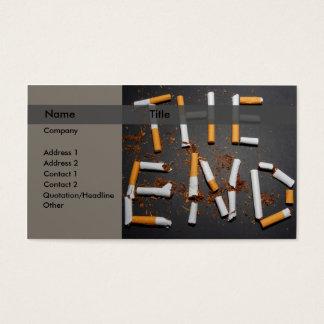 Quit smoking business card