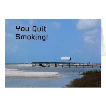 Beach Themed Quit Smoking Card with Beach Image
