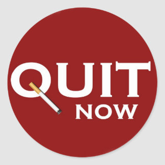 Quit Smoking Classic Round Sticker