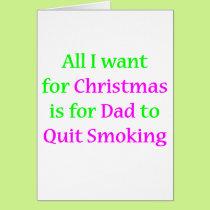 Quit Smoking Dad 2 Card